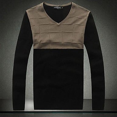 Men's Fashion V Neck Slim Pullover Sweater