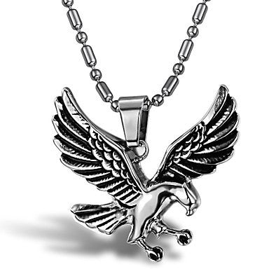 Cool the Eagle Fly Man Titanium Steel Necklaces