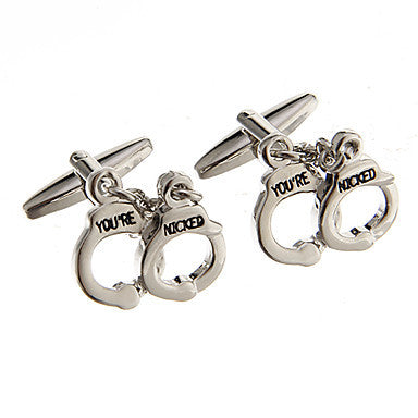 Fashion Handcuffs Shape Silver Alloy Cufflinks(1 Pair)