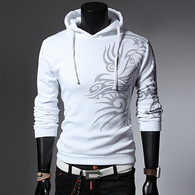 Men's Fashion Print With A Hood Hoodies Coat