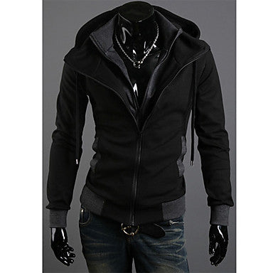 Men's Faux Two-Pieces Hoodie Coat