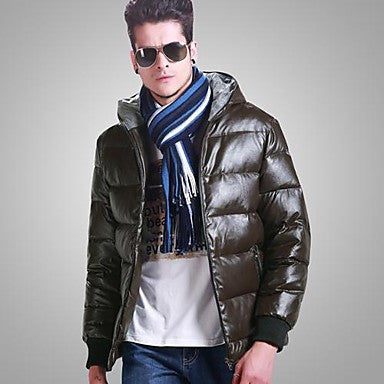 Men's Fashion Winter Thick Warm Skin Down Jacket