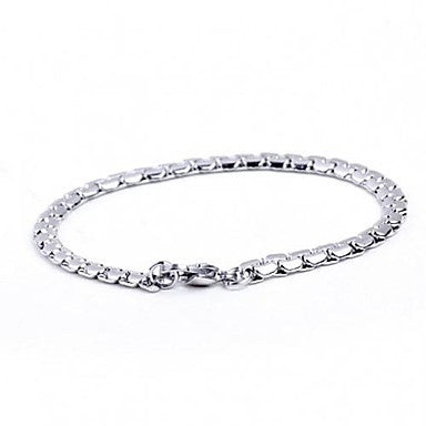 High Quality 0.5cm Width Contracted Titanium Steel Men's Chain Bracelet