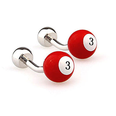 Billiards Themed Men's Cufflinks