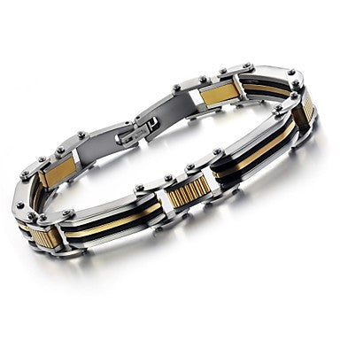 Men's Golden Cool Between Titanium Steel Bracelet