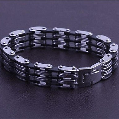 Men's Fashion Personality Simple Titanium Steel Bracelets