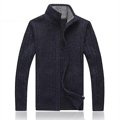 Men's Cardigan Collar Leisure Knit Sweater