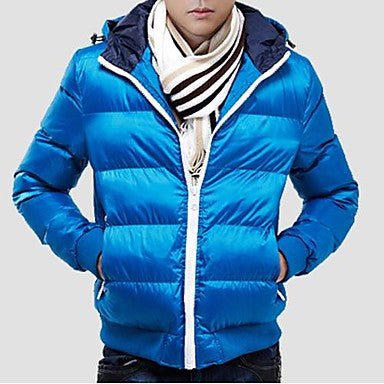 Men's Casual Fashion Warm Winter Cotton Padded Jacket Slim Male Coat
