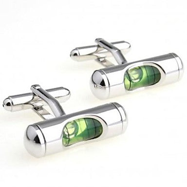 Fashion 1.6cm Men's Silver Copper Sradienter Cufflinks (Silver)(1 pair)