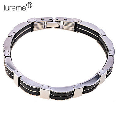 Men's Lureme Black Tatinium Steel Bracelet