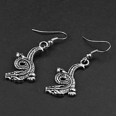 Punk Drangon Silver Alloy Earrings(1 Pair)