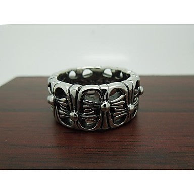 Cool Design Fashion Vintage Titanium Steel Men's Statement Rings (1 Pc)