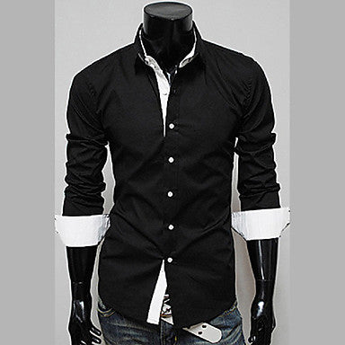 Men's Stand Collar Hot Selling Long Sleeve Shirt