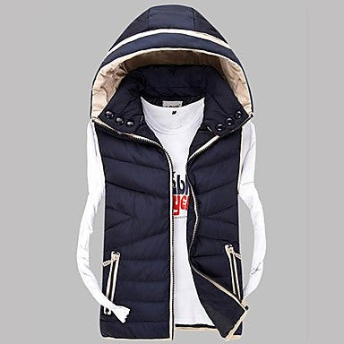 Men's Casual Slim Hoodie Vest(More Colors)