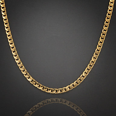 60cm,8mm,18K Gold Plated Luxurious Figaro Chain High Quality Men's Chain Necklace Uneasy Fade