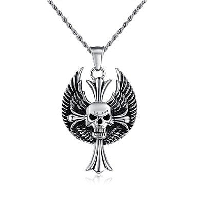 Fashion Jewelry Pirate Stainless Steel Men's Pendant Necklace (1pc)