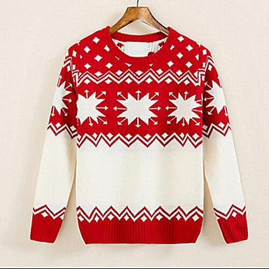 Men's Autumn Winter Snow Pattern New Korean Cultivating Folk Style Sweater