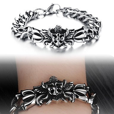 Super Cool Fashion Personality Punk European And American Wind Man Titanium Steel Bracelet