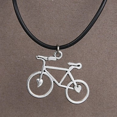 Fashion Stainless Steel Bicycle Pendant Necklace