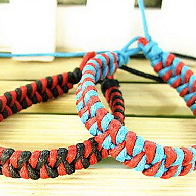 Ethnic Weaved Multicolor 20cm WoMen's Multicolor Leather Leather Bracelet(Random Color)(1 Pc)
