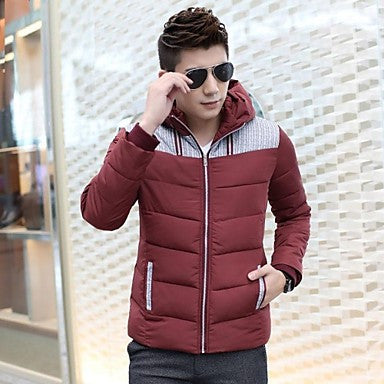 Men's Hooded Long Sleeve Casual Down Jackets (More Colors Available)