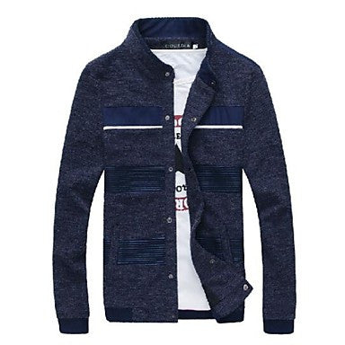 Men's Standing Collar Jacket