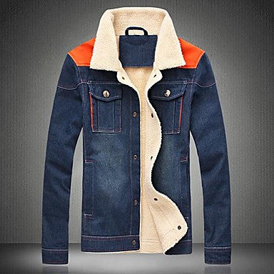 Men's Fashion Short Denim Jacket