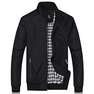 HUACAI Casual Collar Slim Jacket