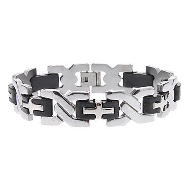 X Shape Stainless Steel Bracelet