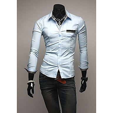 Men's Korean Version Long Sleeve Shirts