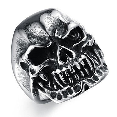 Fashion Stainless Steel Skull Men's Rings (1 Pcs)