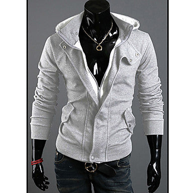 Men's Clothing Outerwear Black Mens Special Jacket Coat Hoodies