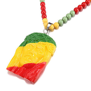 Men's Hip Hop Goodwood (Colorful Pharaoh) Multicolor Acrylic Pendant Necklace (1 Pc)
