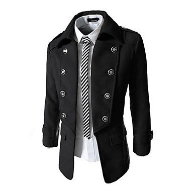 Mens Double Breasted 2 Way Fitted Jacket
