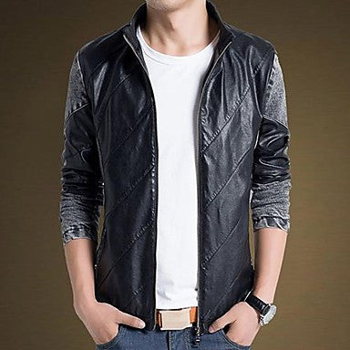 Men's Pu Spicling Jacket