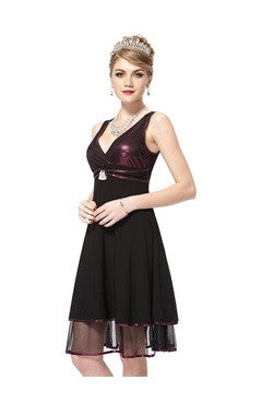 Shimmer Top Contrast Layers Homecoming Dress
