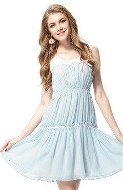 Light Blue Stretchy Short Homecoming Dress