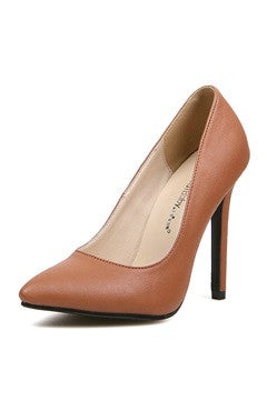 Classic Plain High Heel Faux Court Shoes