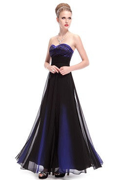 Elegant Sweetheart Empire Blue Party Dress