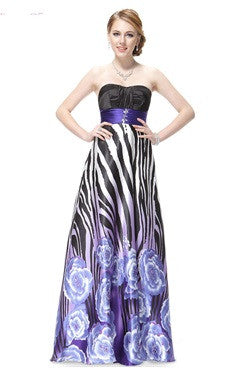 A-line Oversized Zebra Printed Dress With A Waistband