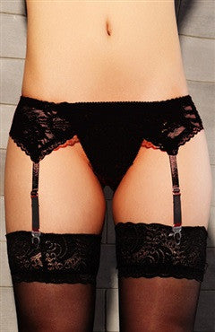 Black Garter Lace Sexy Lingeries