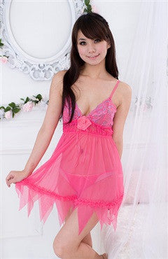 Chemise/Slip Reds Sets Sexy Lingeries
