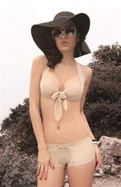 Nude Front Tied Brief Bottom Bikini