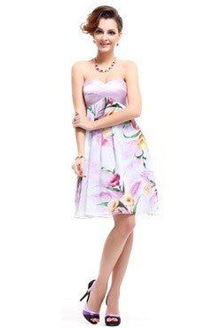 Floral Print Sweetheart Spring Out Dress