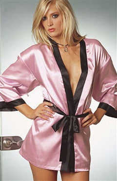 Satin Bicolor Gowns & Robes Full Torso Sexy Lingeries