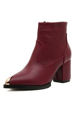Patent Leather Joint Ankle Boots