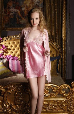 Full Torso Pinks Gowns & Robes Sexy Lingeries