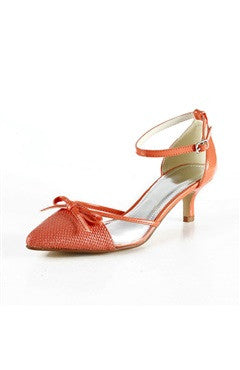 Low Heel Ankle Strap Pointed Shoes