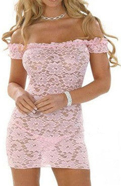 Lace Chemise/Slip Pinks Sets Sexy Lingeries