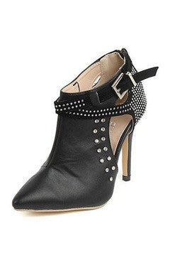 Stiletto PU Studs Ankle Boots